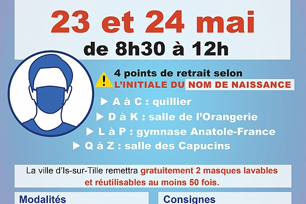 distribution masque 23-24 mai W