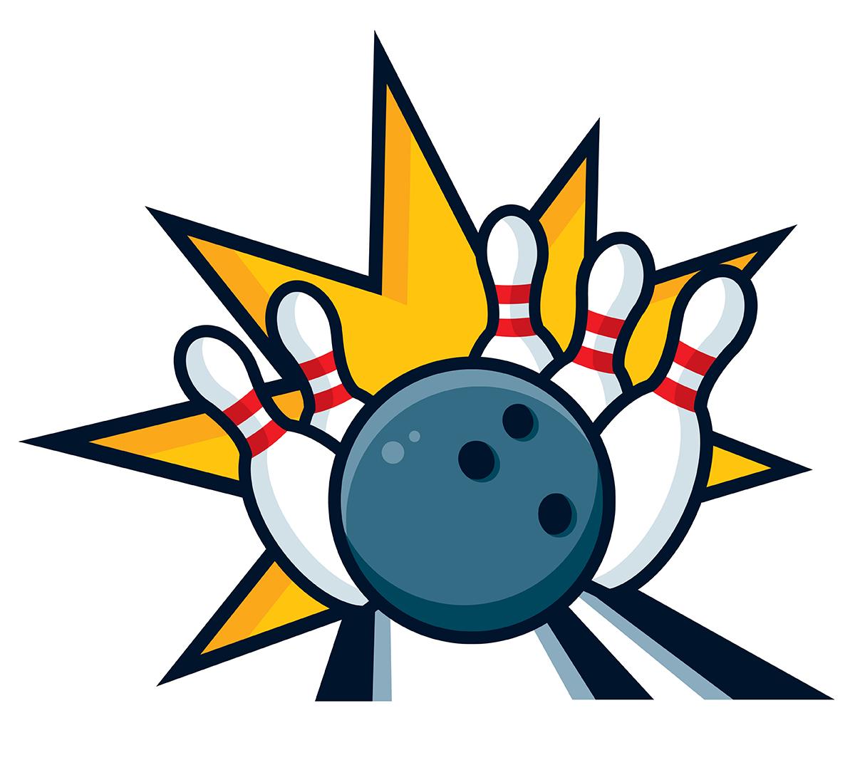 Bowling Strike Clipart